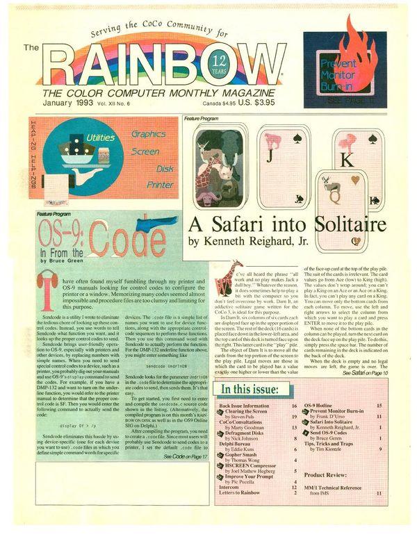 The RAINBOW Magazine 1993 - CoCopedia - The Tandy/Radio