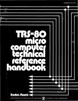 TRS-80 Micro Computer Technical Reference Handbook